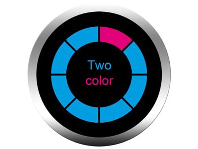 2 colors gobos