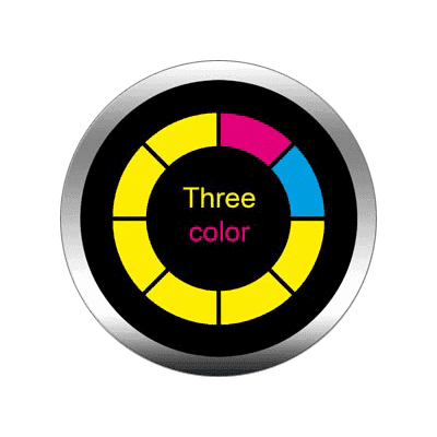 Gobo a tre colori