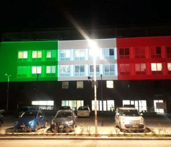 proiezione_del_tricolore_Campus_biomedico_Roma